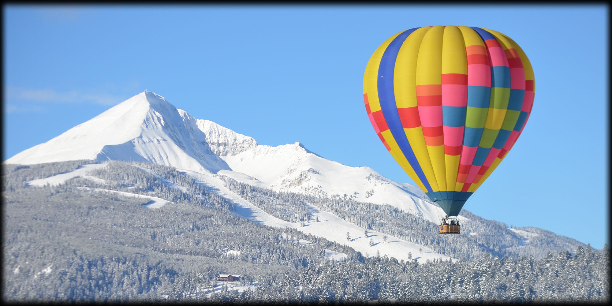 Montana Hot Air Balloon Rides Winter View